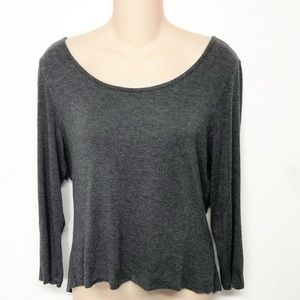 Delia's cropped keyhole Bow Back Top